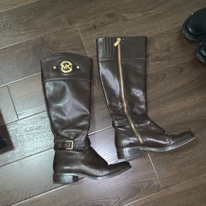 Michael Kors leather riding boot 36